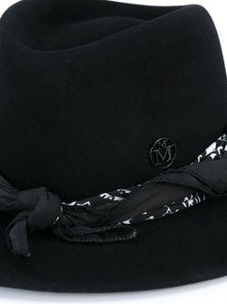Шляпа С Платком Maison Michel                                                                                                              черный цвет