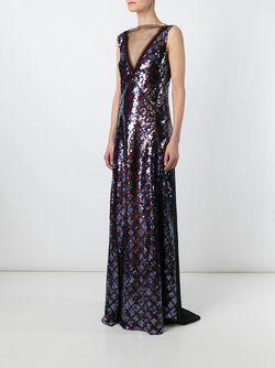Вечернее Платье С Пайетками Marc Jacobs                                                                                                              синий цвет