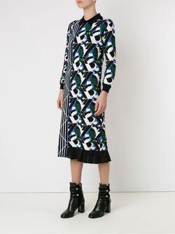 Asymmetric Pattern Knit Dress Gig                                                                                                              зелёный цвет