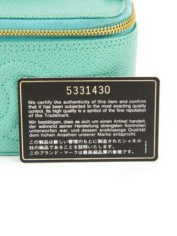 Чемоданчик Для Косметики С Логотипом Chanel Vintage                                                                                                              зелёный цвет