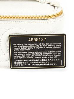 Чемоданчик Для Косметики С Логотипом Chanel Vintage                                                                                                              белый цвет