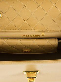 Сумка На Плечо С Цепочной Лямкой Chanel Vintage                                                                                                              Nude & Neutrals цвет