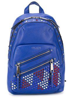 Декорированный Кристаллами Рюкзак P.Y.T Marc Jacobs                                                                                                              синий цвет