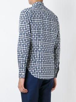 Рубашка С Принтом GABRIELE PASINI                                                                                                              синий цвет