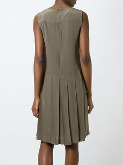 Плиссированное Платье Cacharel                                                                                                              зелёный цвет