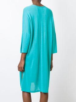 Платье-Кафтан С V-Образным Вырезом N.PEAL                                                                                                              зелёный цвет