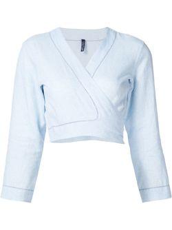 Cropped Blouse Lisa Marie Fernandez                                                                                                              синий цвет