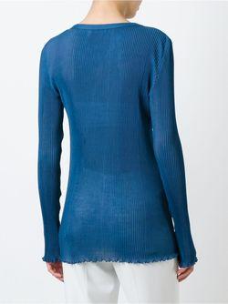 Свитер С Гофрированным Дизайном Sonia Rykiel                                                                                                              синий цвет