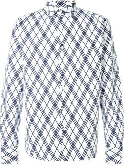 Рубашка В Клетку GABRIELE PASINI                                                                                                              белый цвет
