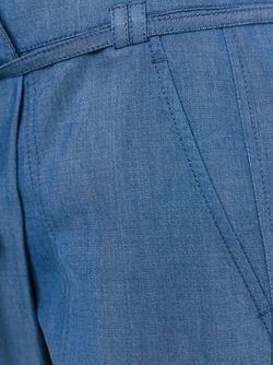 Зауженные Брюки С Завязкой На Поясе Vince                                                                                                              синий цвет