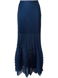 Длинная Плиссированная Юбка MSGM                                                                                                              синий цвет