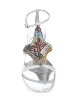 Декорированные Сандалии Giuseppe Zanotti Design                                                                                                              серебристый цвет