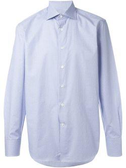Рубашка В Клетку Canali                                                                                                              синий цвет