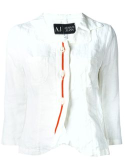 Блузка С Вышивкой ARMANI JEANS                                                                                                              белый цвет
