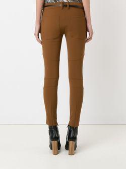 Panelled Skinny Trousers GLORIA COELHO                                                                                                              коричневый цвет