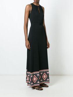 Платье Макси С Контрастным Подолом Michael Michael Kors                                                                                                              черный цвет