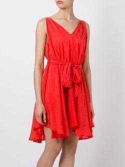 Платье Бе Рукавов YMC                                                                                                              красный цвет