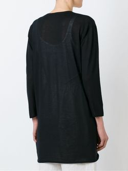 Удлиненный Свитер Свободного Кроя Agnona                                                                                                              чёрный цвет