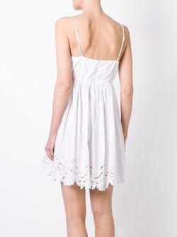 Кружевное Платье P.A.R.O.S.H.                                                                                                              белый цвет
