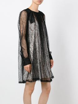 Кружевное Платье С Длинными Рукавами No21                                                                                                              черный цвет