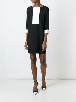 Платье-Шифт С Контрастной Панелью Gianluca Capannolo                                                                                                              черный цвет