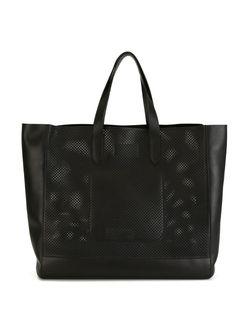 Сумка-Тоут Perf Easy С Перфорированным Дизайном Ralph Lauren                                                                                                              чёрный цвет