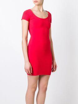 Облегающее Платье В Рубчик T By Alexander Wang                                                                                                              красный цвет