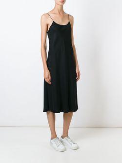 Платье На Бретельках Helmut Lang                                                                                                              черный цвет