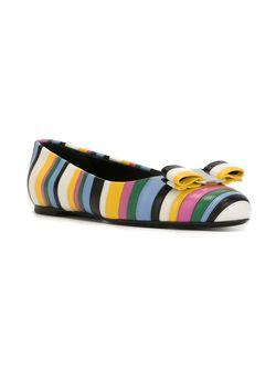 Полосатые Балетки Salvatore Ferragamo                                                                                                              многоцветный цвет
