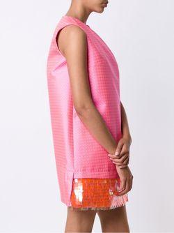 Платье С Пайетками На Подоле Delpozo                                                                                                              розовый цвет