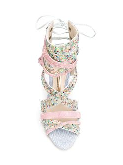 Босоножки С Кристаллами Swarovski Sophia Webster                                                                                                              многоцветный цвет