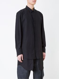 Рубашка С Многослойным Подолом STRATEAS CARLUCCI                                                                                                              чёрный цвет
