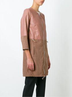 Двухцветное Пальто Eleventy                                                                                                              розовый цвет