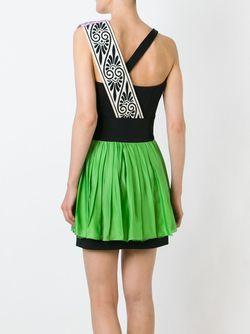 Платье Колор-Блок Fausto Puglisi                                                                                                              зелёный цвет