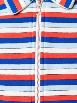 Расклешенное Платье В Полоску Julien David                                                                                                              синий цвет
