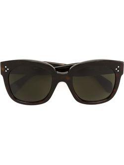Солнцезащитные Очки В Черепаховой Оправе Céline                                                                                                              чёрный цвет