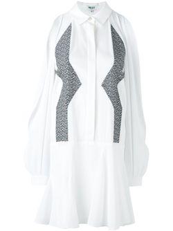 Платье-Рубашка С Зигзагообразным Узором Kenzo                                                                                                              белый цвет