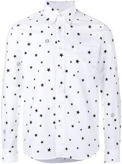 Рубашка С Принтом Звезд UNIFORM EXPERIMENT                                                                                                              белый цвет