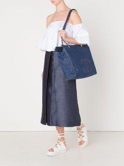 Джинсовая Сумка-Тоут Jumbo Xl Chanel Vintage                                                                                                              синий цвет
