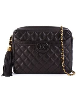 Стеганая Сумка С Цепочной Лямкой Chanel Vintage                                                                                                              черный цвет