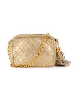 Стеганая Сумка Через Плечо Chanel Vintage                                                                                                              серебристый цвет