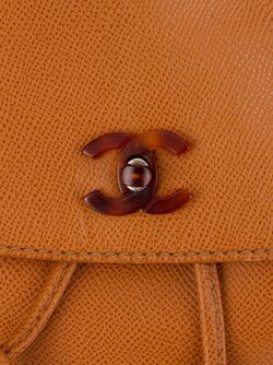 Классический Рюкзак С Логотипом Chanel Vintage                                                                                                              коричневый цвет