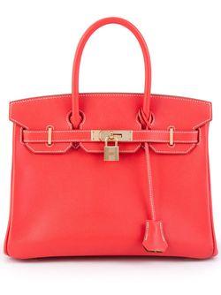 Сумка-Тоут Birkin 30 Hermès Vintage                                                                                                              красный цвет