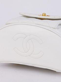 Стеганый Рюкзак Chanel Vintage                                                                                                              белый цвет