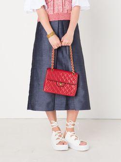 Стеганая Сумка На Плечо Chanel Vintage                                                                                                              красный цвет