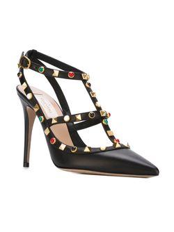 Туфли С Заклепками Valentino                                                                                                              черный цвет