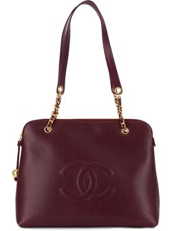 Сумка На Плечо С Цепочной Отделкой Chanel Vintage                                                                                                              розовый цвет