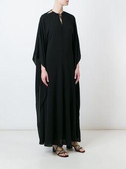 Платье С Декорированной Горловиной Valentino                                                                                                              черный цвет