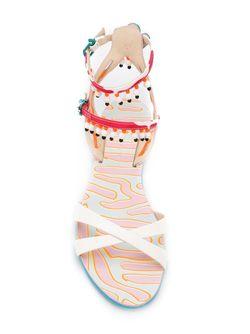 Декорированные Бусинами Сандалии Sophia Webster                                                                                                              многоцветный цвет