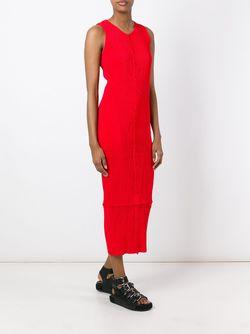 Плиссированное Платье Без Рукавов ISSEY MIYAKE VINTAGE                                                                                                              красный цвет
